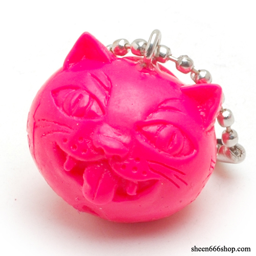Crazy Cat Resin KeyChain_Pink