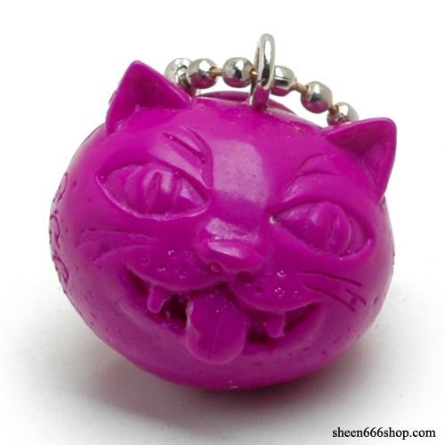 Crazy Cat Resin KeyChain_Purple