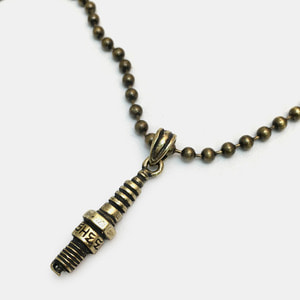 [세트할인] Brass Ball Chain Necklace with Small Plug Pendant