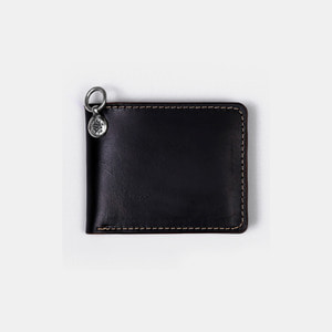 575 Leather Wallet #042 Billfold Horse Strips Special black