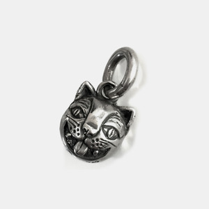 Crazy Cat Bell Pendant Silver