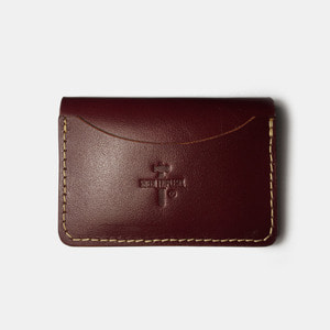 575 #067 Card Holder Cow Leather wine