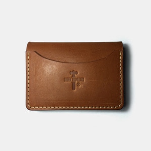 575 #066 Card Holder Cow Leather brown