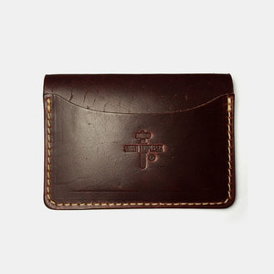 575 #059 STND Card Holder Horse Leather wine