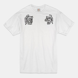 [예약할인 20%] Angry Animals T-Shirts white/black