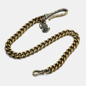 Brass Anchor with Skull Wallet Chain