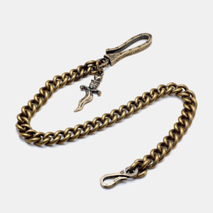 Brass Dagger Wallet Chain