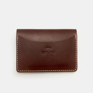 575 #077 STND Card Holder Horse Leather dark brown
