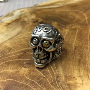 H.F.K Skull Ring With Brass Eye Edition 20호