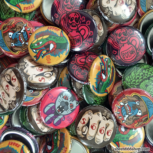 Pin Button Random 5 Pack